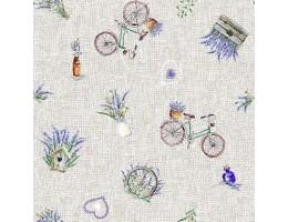 Лонета десен  с лавандула и колело