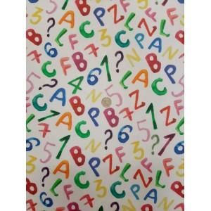 Десен с цифри и букви LOTONET плат