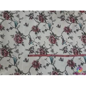 Покривка за маса с цвете и врабче платове Турция