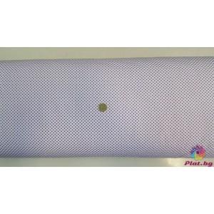 Ранфорс бяла основа на малки лилави точки произведено в Турция