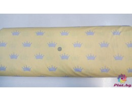 Ранфорс жълта основа със сиви коронки