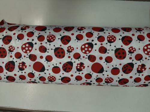 Ранфорс на червени калинки от Турция