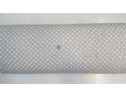 Ранфорс светло сива основа на голeми бели точки