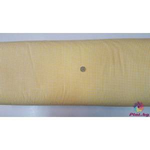 Ранфорс ситно каре цвят жълто плат Турция
