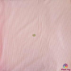 Ранфорс ситно каре цвят розово платове Турция