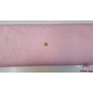 Ранфорс ситно райе цвят розов платове Турция