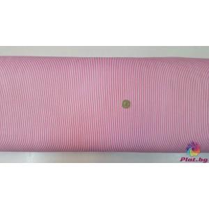 Ранфорс ситно райе цвят циклама плат Турция