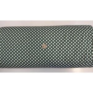 Ранфорс тъмно зелена основа на големи бели точки платове Турция