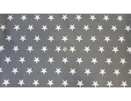 Хидрофибриран сив плат на бяли звезди
