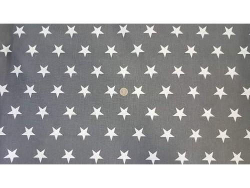 Хидрофибриран сив плат на бяли звезди произведено в Турция
