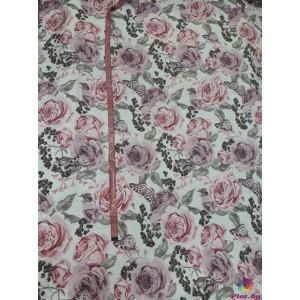 Покривка за маса с рози в два цвята плат Турция