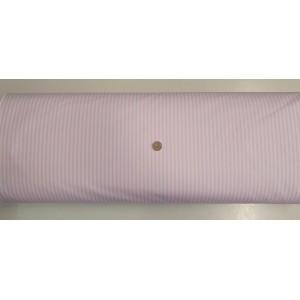 Ранфорс бяла основа на розово райе плат Турция
