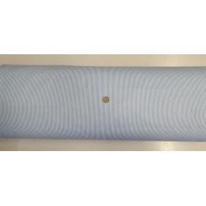 Ранфорс бяла основа на ситно синьо райе произведено в Турция