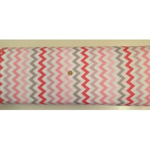 Ранфорс бяла основа с зиг заг шарен цвят 2 произведено в Турция