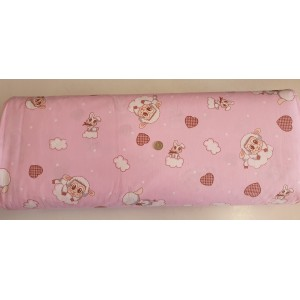 Ранфорс десен на овца на облаци розово плат Турция