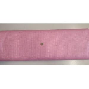 Ранфорс розова основа с малки бели точки платове Турция