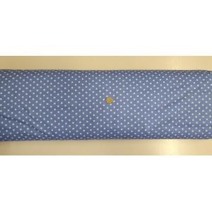 Ранфорс синьа основа на големи бели точки плат Турция