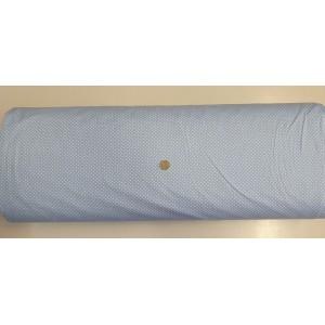 Ранфорс синьа основа с малки бели точки платове Турция