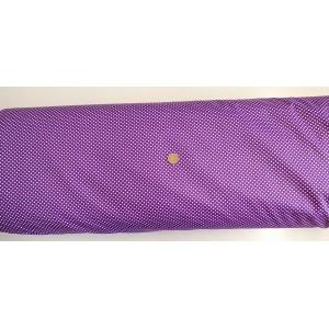 Ранфорс тъмно лилава основа с малки бели точки платове Турция