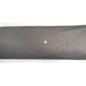 Ранфорс черна основа с малки бели точки произведено в Турция