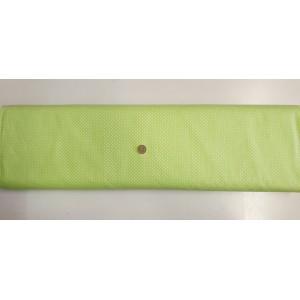 Ранфорс ярко зелена основа на малки бели точки произведено в Турция