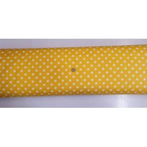Хидрофобиран плат на жълта основа с големи бели точки от Турция