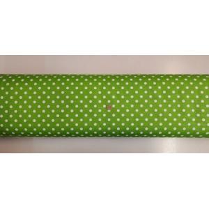 Хидрофобиран плат на зелена основа с големи бели точки платове Турция