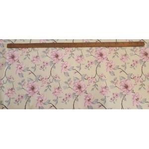 Хидрофобиран плат с клонче и розово цвете плат Турция
