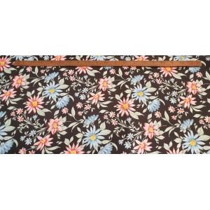 Хидрофобиран черна основа на розови и сини цветя от Турция