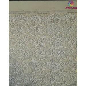 Брюкселска дантела цвят бял платове