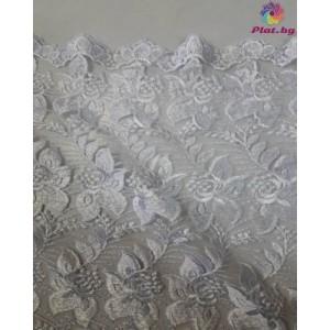 Дантела цвят бял шарка 1 платове