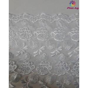 Дантела цвят бял шарка 2 плат