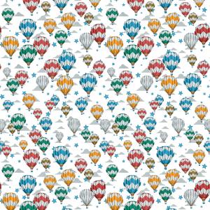 Лонета десен с балон, звезди и облачета платове Испания