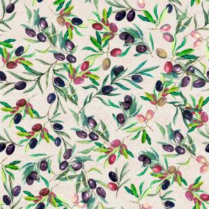 Лонета десен с клонче и маслина платове Испания
