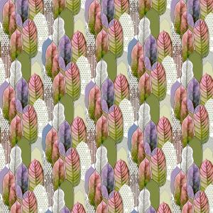 Лонета десен с красиви листа 1 платове Испания
