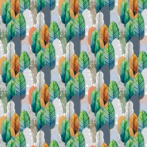 Лонета десен с красиви листа 2 платове Испания
