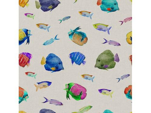 Лонета десен с красиви рибки платове Испания
