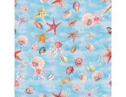 Лонета десен с морски звезди и други