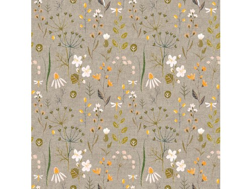 Лонета десен с всякакви видове цветя плат Испания