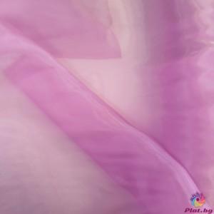 Органза преливаща цвят розово лилаво платове Южна Корея