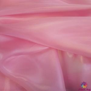 Органза преливаща цвят розово произведено в Южна Корея