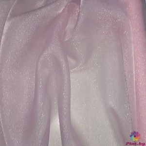 Японска органза цвят бебешко розово