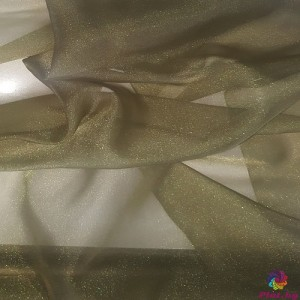 Японска органза цвят воинишко зелено произведено в Япония