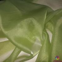 Японска органза цвят грахово зелено