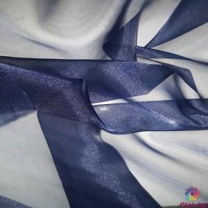 Японска органза цвят тъмно син