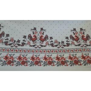 Покривка за маса с десен на петели и цветя произведено в Турция