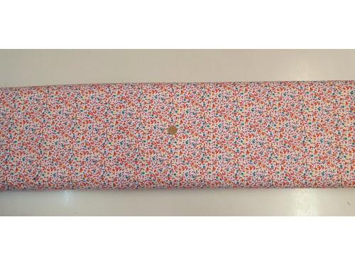 Памучен плат с десен на цветя 13 от Турция