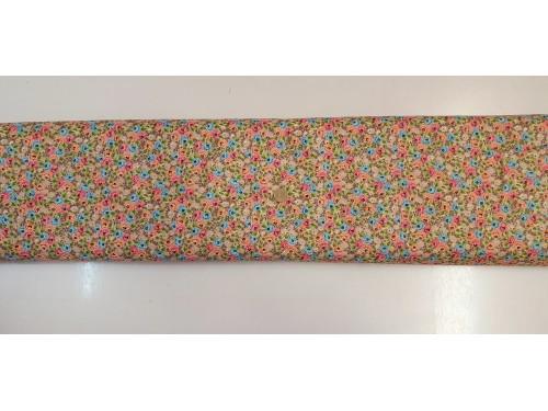 Памучен плат с десен на цветя 22 платове Турция