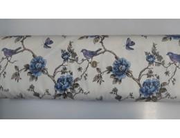 Хидрофобиран плат с птиче и цветя 1