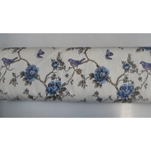 Хидрофобиран плат с птиче и цветя 1 произведено в Турция